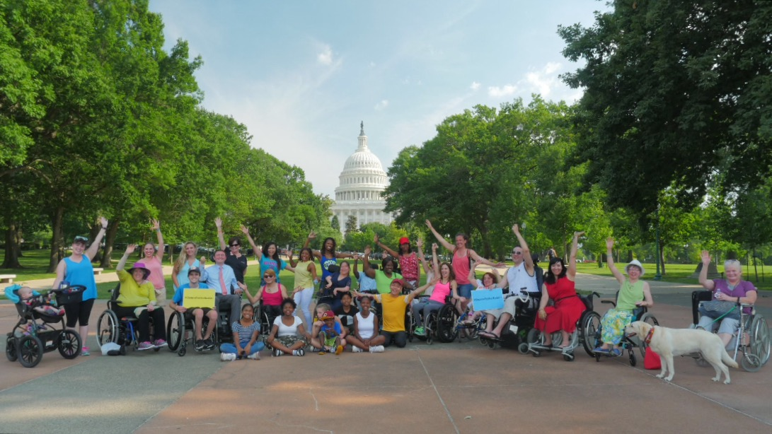 Advocating for spinal cord injury legislation on Capitol Hill.